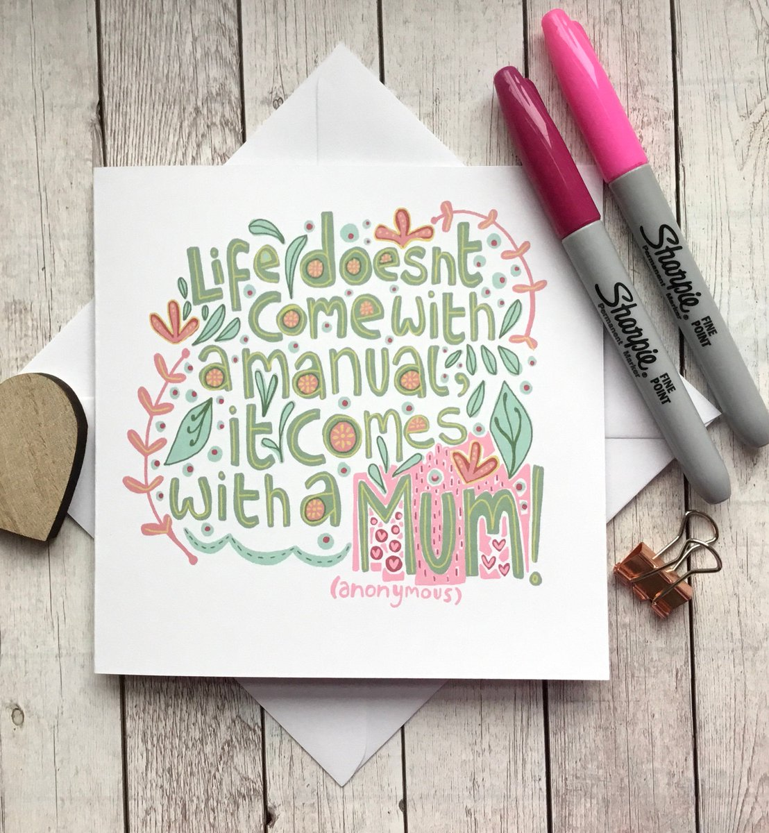 Mother's Day Quote Card - Life Doesn't Come With A Manual It Comes With A Mum - Card For Mum - Illustrated Card - Hand Drawn Typography. https://t.co/4emi4BGCYA #Slumbermonkey #Etsy #HappyMothersDay https://t.co/dyWBt7nhVB