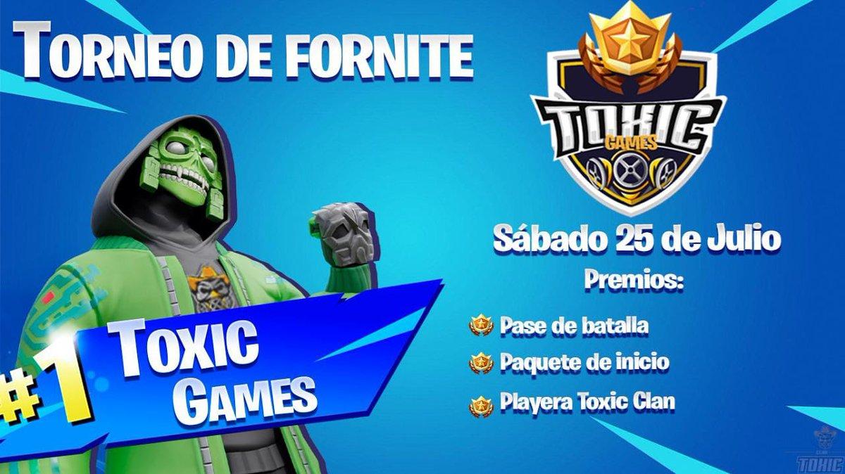 PRIMER TORNEO DE TOXIC CLANLOS TOXIC GAMESFECHA OFICIAL DEL TORNEOMUCHOS PREMIOSSÍGUENOS EN REDES SOCIALES PARA MÁS INFORMACIÓN#xbox #win #fortnitesniping #fortniteclips #fortnite #default #sinskin #gamer #girlgamer #victoriamagistral #squad #duo #solopic.twitter.com/Njzhk5aR7Y