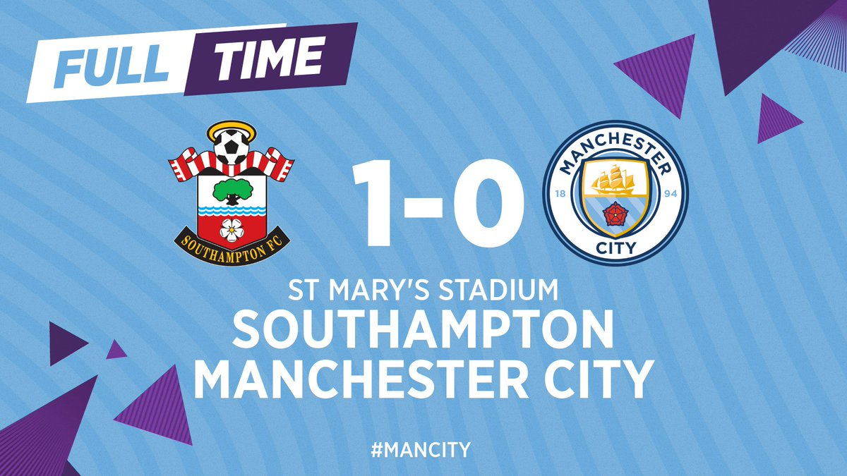 FULL-TIME | Southampton take the three points...  🔴 1-0 🔵  #ManCity https://t.co/ggjhBkqc5Y