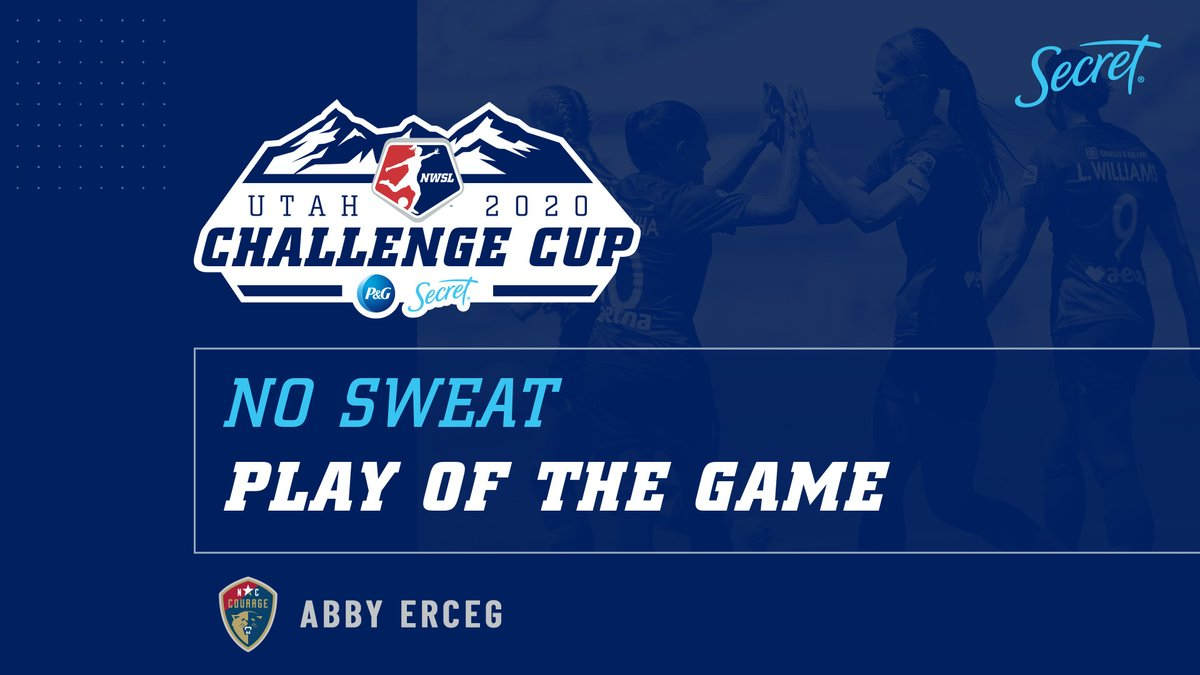 The goal that moved @TheNCCourage to a perfect 3️⃣ wins in 3️⃣ games.  @abbyerceg's tally is the @SecretDeodorant No Sweat Play of the Game.  #NWSLChallengeCup https://t.co/0o7tbZlv1l