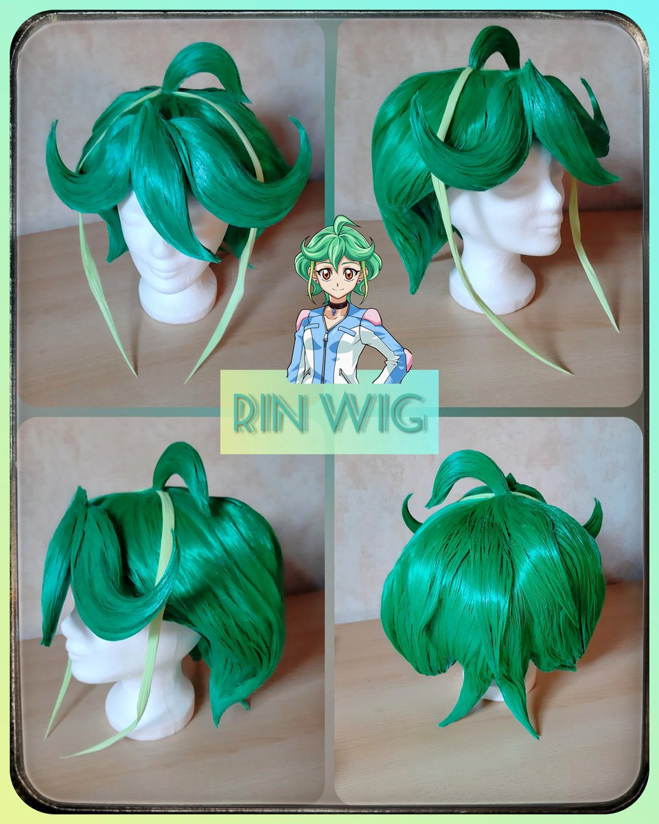 Sooo the whole wig is done!  Stay tuned for cosplay photos in September #yugioh #cosplay #cosplaywig #wigstyling #rin #yugiohcosplay #arcv #rincosplay https://twitter.com/Wheelerin_94/status/1244912805943402497…pic.twitter.com/sYTG8Vv5vl