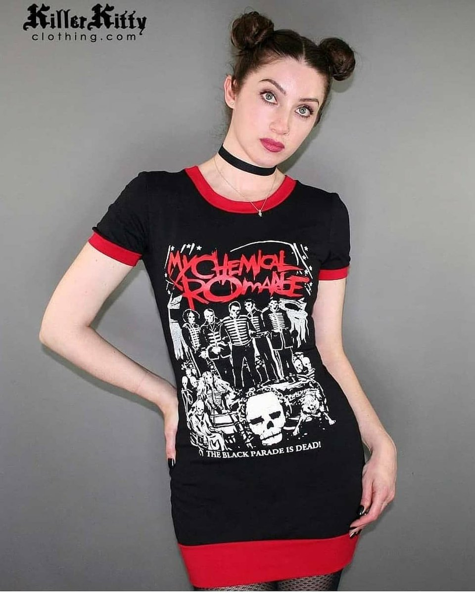 The Black Parade Is Dead! Grab this ringer dress today! http://Killerkittyclothing.com http://killerkitty.etsy.com #mcr #mcrshirt #bandmerch #emo #clothes #blackparadeisdead #mychemicalromanceforever #mychemicalromance #weedgirls #vampiregirls #grungefashion  #gerardway #blackparadepic.twitter.com/tVtUHee2aB