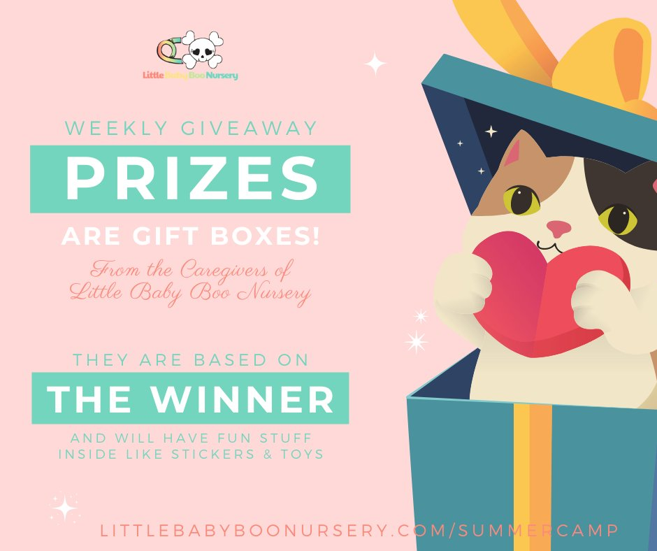 🔞🏕️#ABDLSummerCamp's WEEKLY PRIZES 🏆are gift boxes from Little Baby Boo Nursery (Mommy Boo, Ms Mommy Black, @MommyButtercup & Scout). WE'RE OPEN TO SUGGESTIONS FOR GRAND PRIZE! #abdl #littlespace #abdlcommunity #adultbaby #diaperlover #littlespacecommunity #littlelifestyle https://t.co/KLE637i7aa