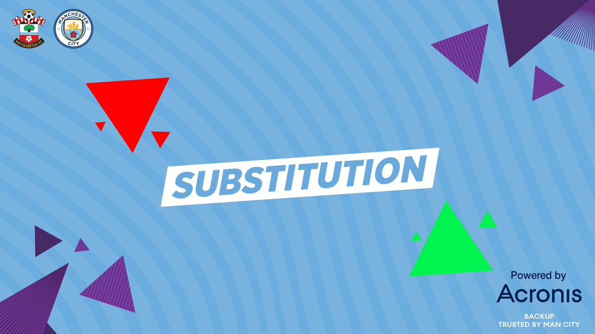CITY SUBS | @DeBruyneKev and @PhilFoden replace @Mahrez22 and @sterling7.  🔴 1-0 🔵  #ManCity https://t.co/dmcl7nXKnm