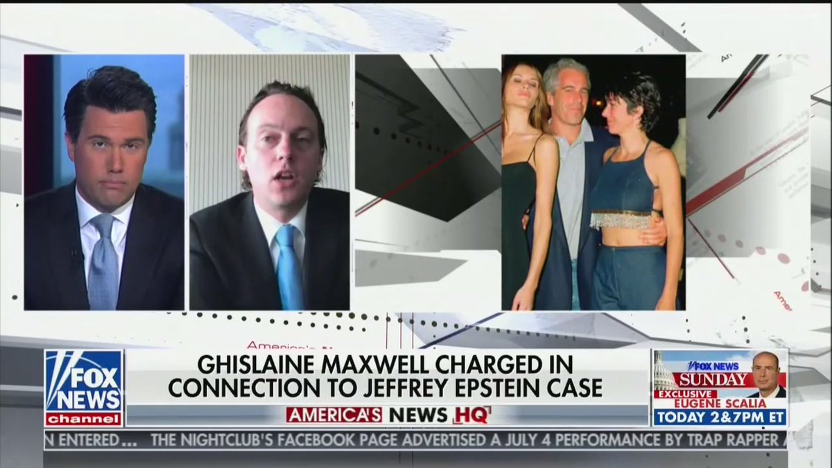 Fox News cropped Donald Trump out of a photo it broadcast of Jeffrey Epstein, Ghislaine Maxwell, and Melania. (Fox News screencap on left; original photo on right -- h/t to @ScottSCroker) https://t.co/TVc7nTUvde