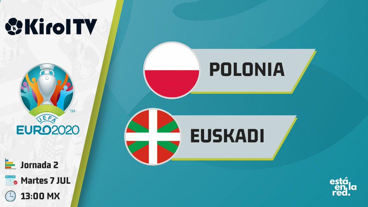 #EURO2020 | Tras el empate con Suecia, la #EuskalSelekzioa necesita sumar ante la sólida @pzpn_pl.   📅 Martes 7 de julio 🕛 13hrs (México) 📺 #EstáEnLaRed https://t.co/YVdt9Vg5QD