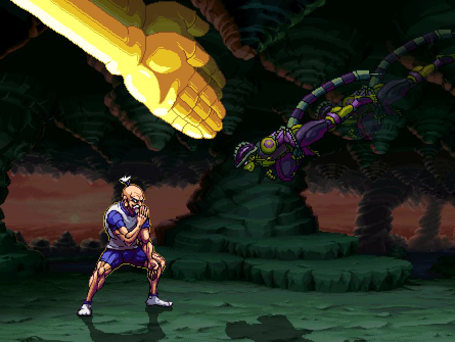 Netero vs Meruem from #HunterxHunter #anime #hxh #mockup #pixelart #fighter #spriteart #aseprite https://t.co/WhmiNFPJji