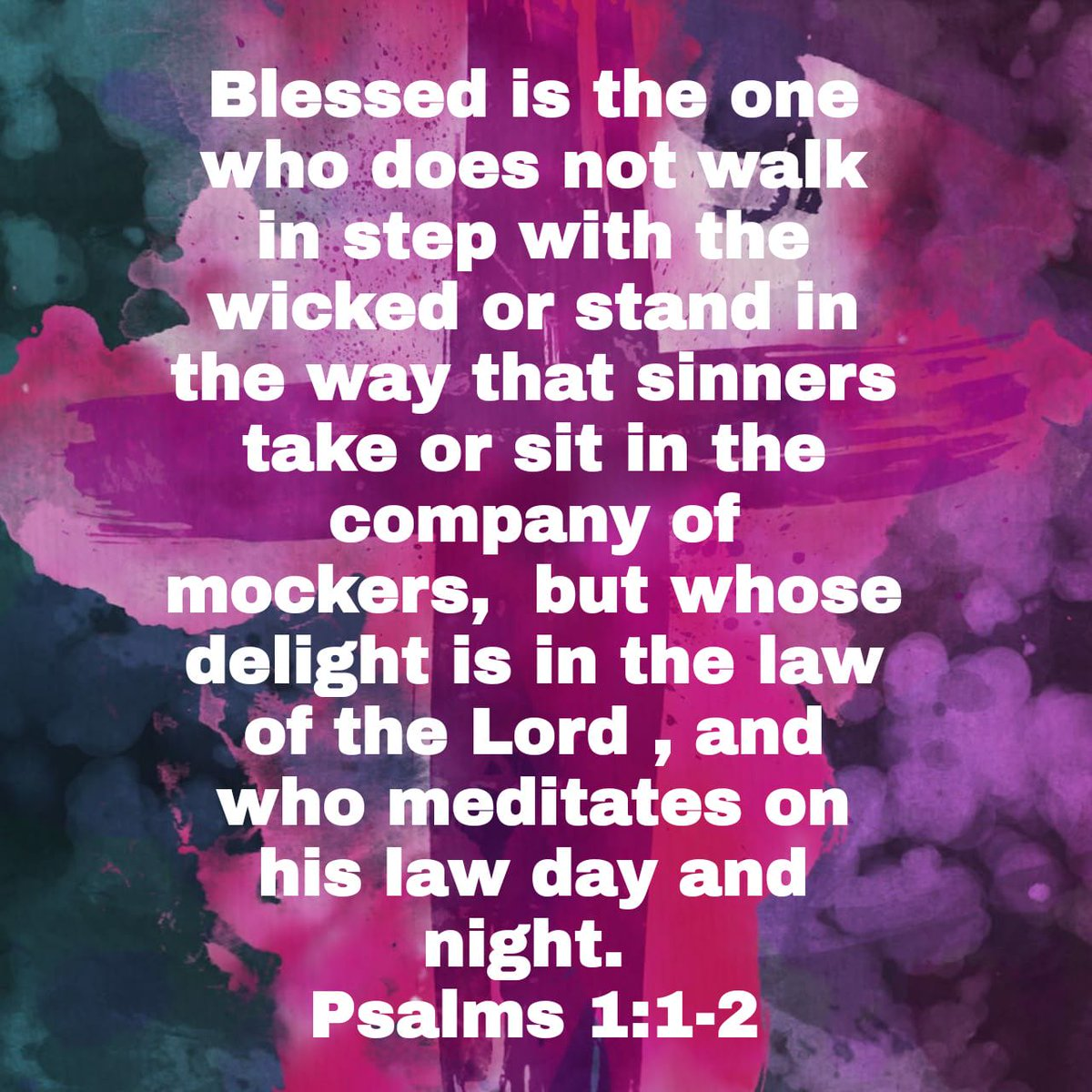 Blessed is the one who does not walk in step with the wicked or stand in the way that sinners tak… https://t.co/3kn0pmOI4r https://t.co/WttwwjtEWP