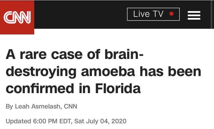 Luckily, Florida is immune to brain eating amoebas.<br>http://pic.twitter.com/uyX4yaWAmW