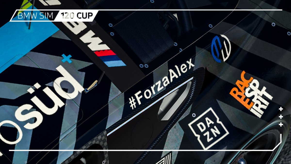 #ForzaAlex - We added this hashtag in support of Alex Zanardi to the BMW SIM 120 Cup event today.   #BMWSIM https://t.co/qlXkF8EYFL