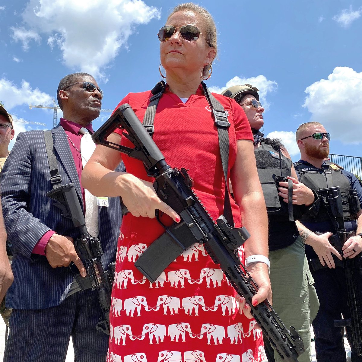 Gubernatorial candidate and State Sen. Amanda Chase (R) was a featured speaker at yesterday's 2nd Amendment Rally at the Virginia State Capitol. Photo by Scott Elmquist.
