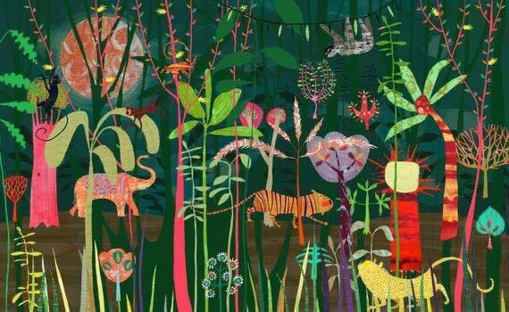#FelizDomingo   'Jungle' by Anne Wilson   pic.twitter.com/P8B8BH2mic
