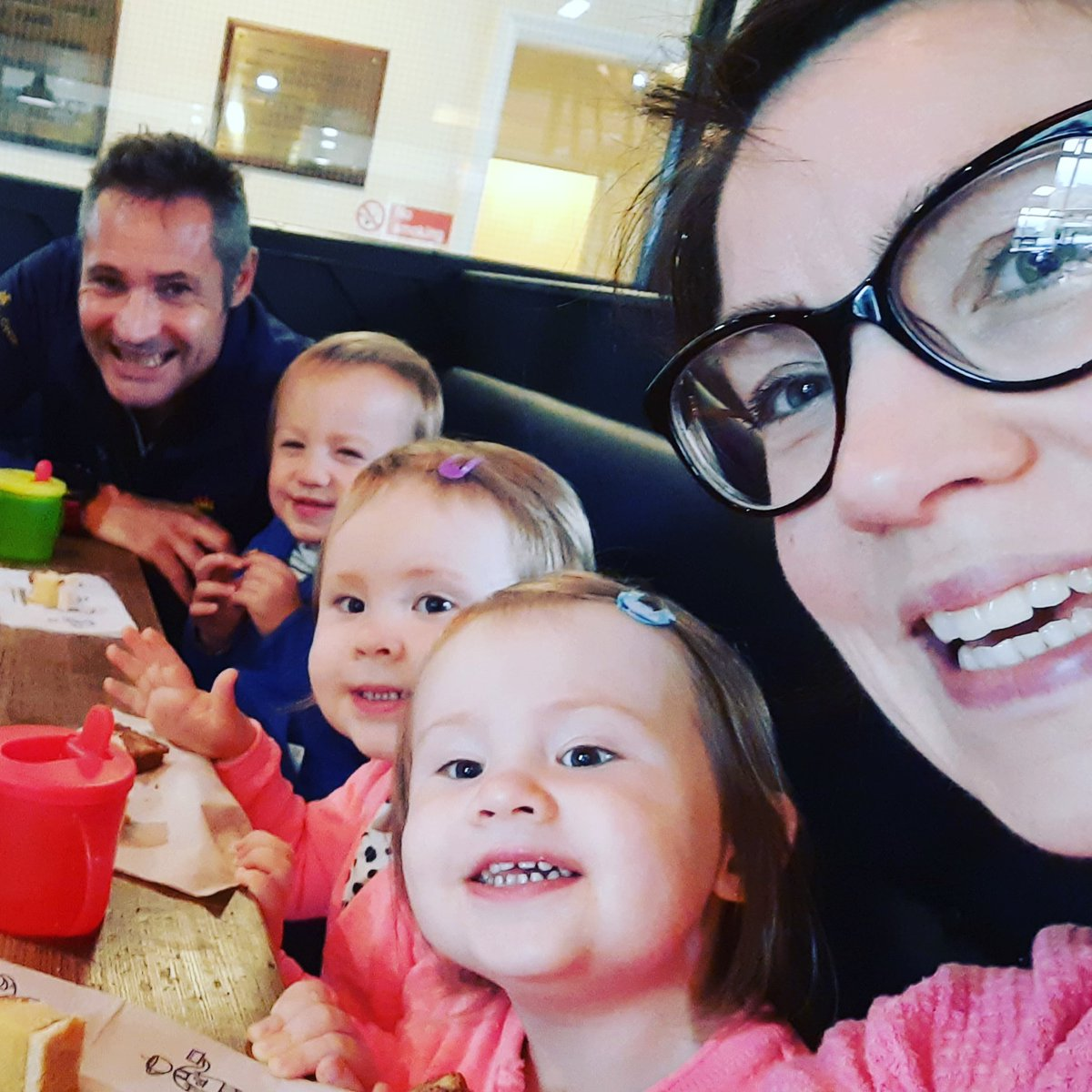 5 excited children out for coffee.... #FamilyHustle