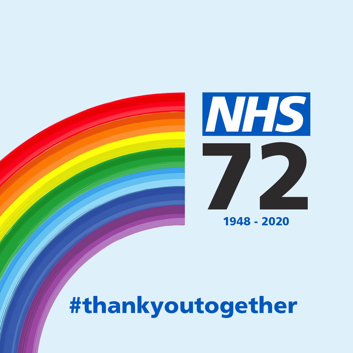 Wishing our wonderful NHS a Happy 72nd Birthday today! 💙   #ThankYouTogether #NHSBirthday https://t.co/zatep278VH