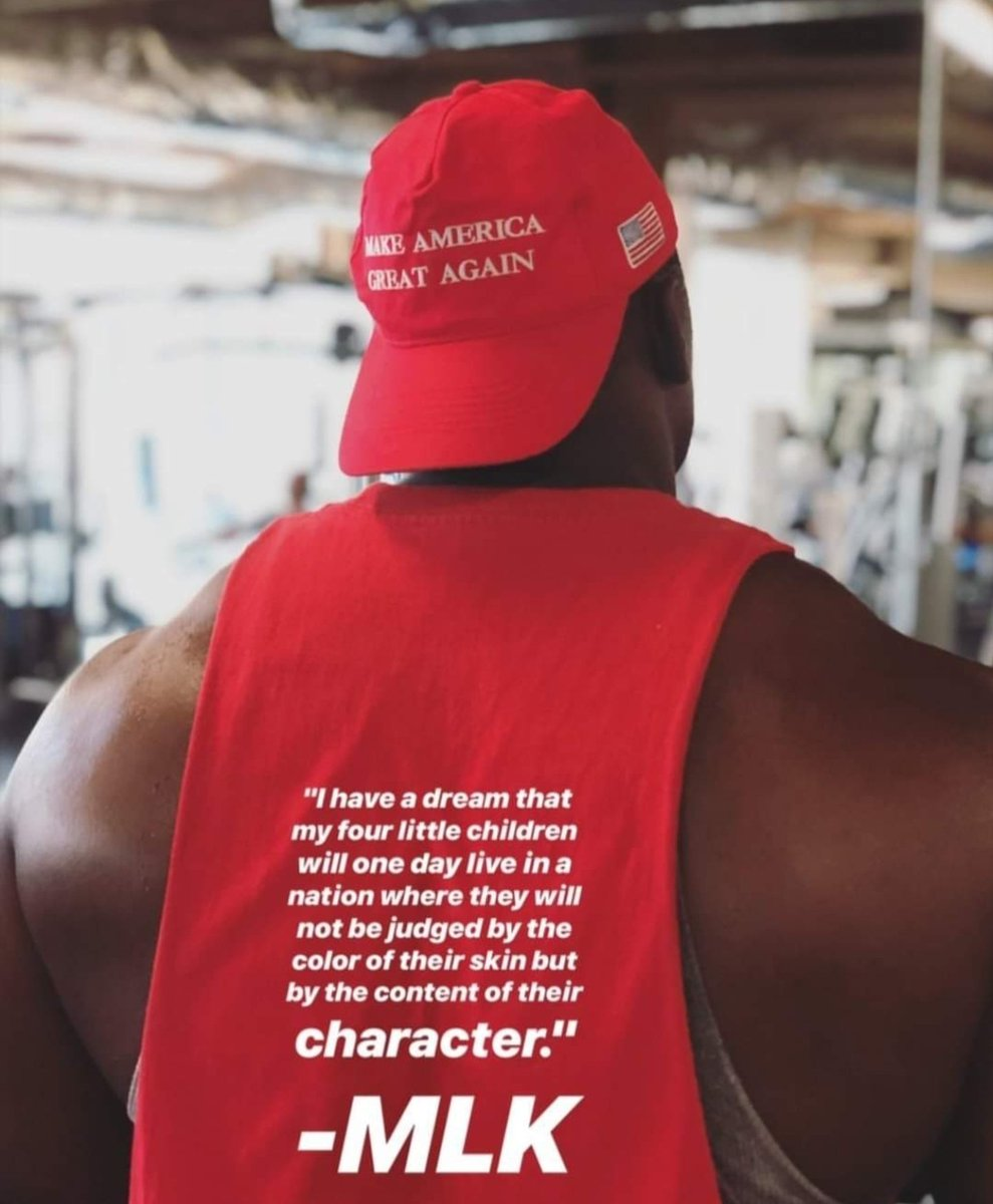 If you judge & denigrate me as a coon, an Uncle Tom, a house nigger, etc. for simply wearing a MAGA hat as a black man, then MLK's dream will only ever be fantasy, and never a reality.  My hat does not define me any more than does the color of my skin. <br>http://pic.twitter.com/ddKRYOfIOM