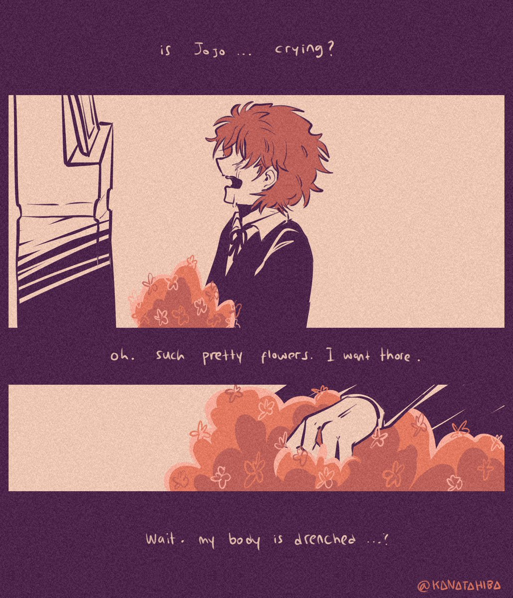 Flowers. (2) //Jonathan almost drown, and Dio saved him but... <br>http://pic.twitter.com/79hLN6ckPR