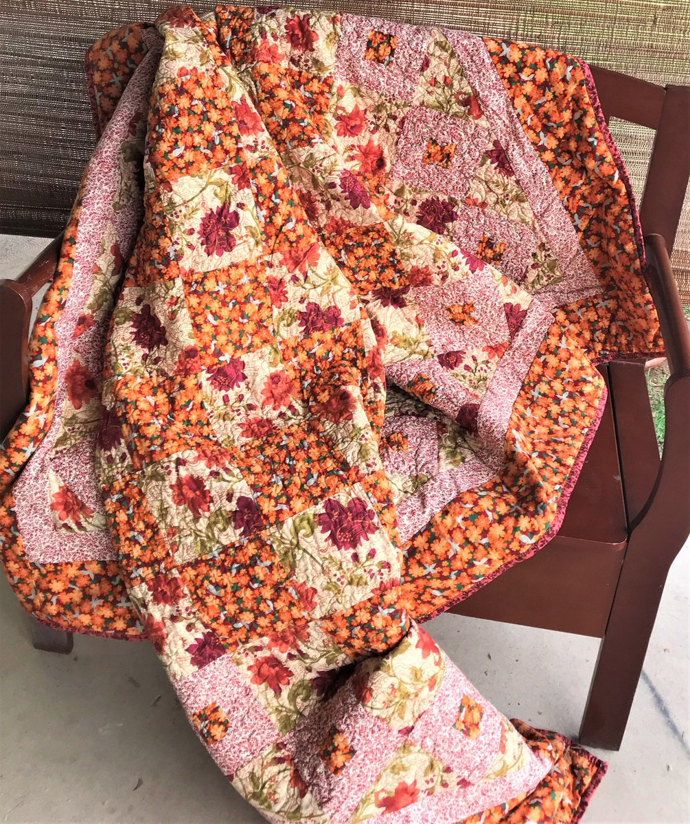Excited to share in my #etsy shop: 74 x 80 Orange Floral Quilt, Red, Orange, Peach Throw/Blanket https://t.co/xJUgX6CgqJ #orange #red #teen #no #cotton #burgundy #peach #tan #throw https://t.co/5LmZuYq35S