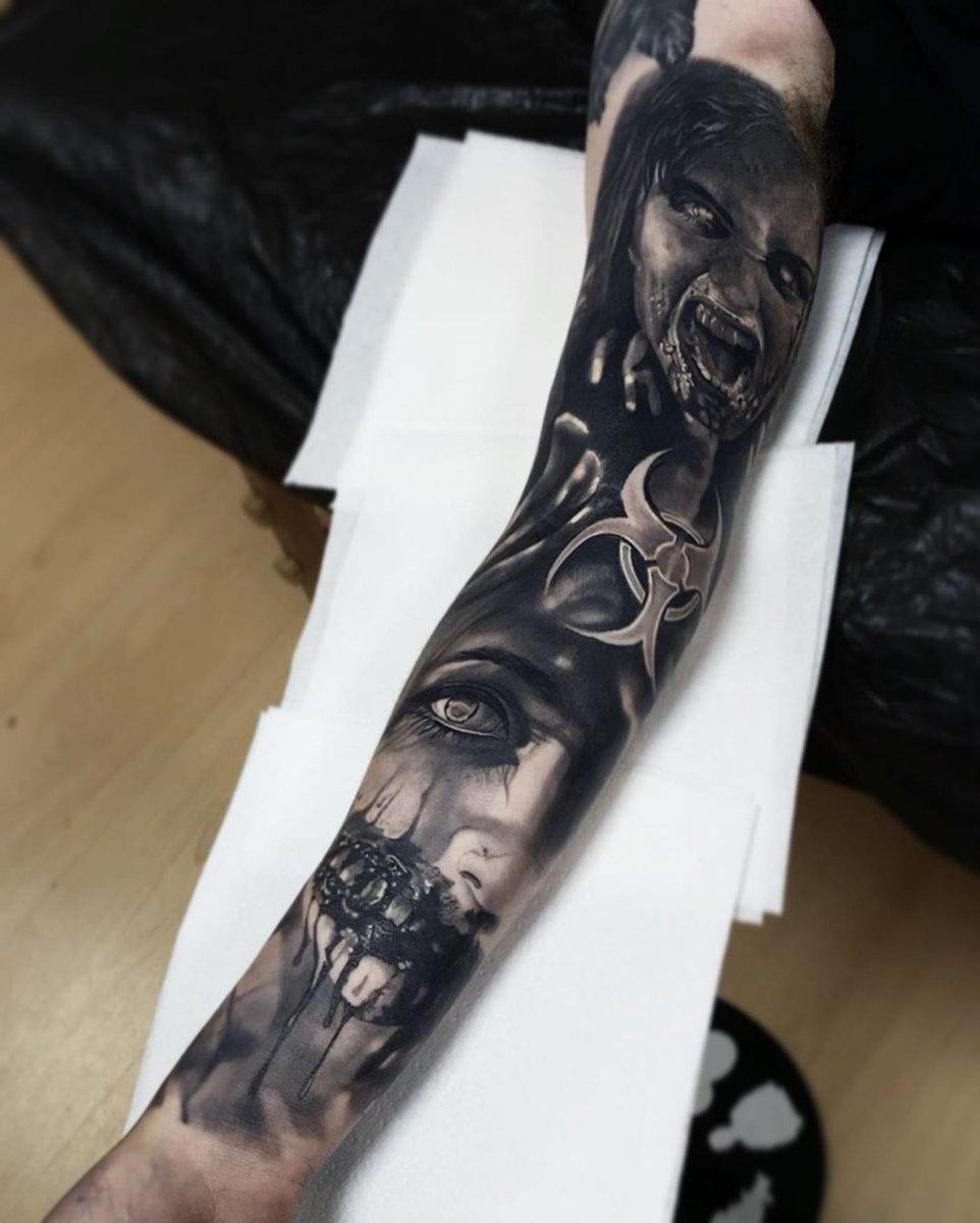 Killer #healed black and grey #sleeve from Tom Farrow using #killerinktattoo supplies!  #killerink #tattoo #tattoos #bodyart #ink #tattooartist #tattooart #blackandgrey #blackandgreytattoo #healedtattoopic.twitter.com/MWGaoQbB6R