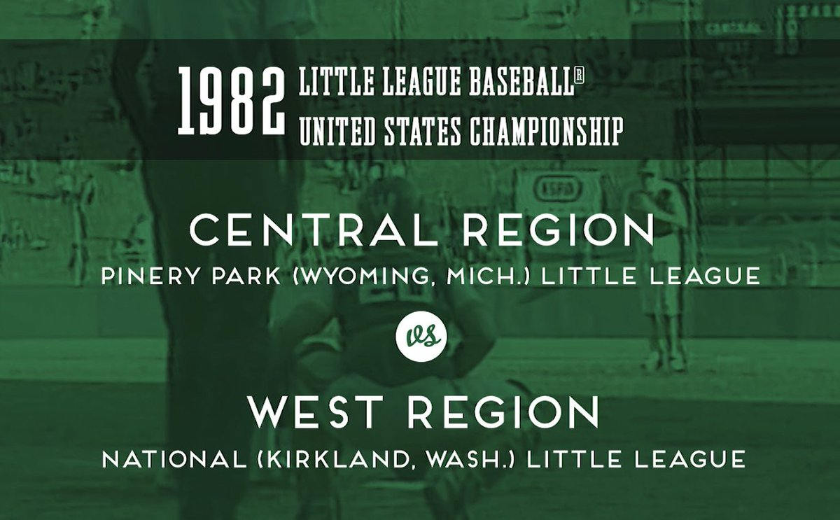 In the 1982 #LLWS, Washington and Michigan met in Williamsport for the United States Championship. Check it out! ltllg.org/p4Bw50ApXLi