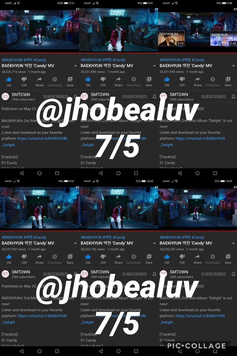 24x on Youtube  #BBHSweetestReturn #BaekhyunOurCandy  #BAEKHYUN #Delight @B_hundred_Hyun #큥이_에리_기가막힌_케미스트리 #Candy  #EXO @weareoneEXO #BAEKHYUN_Candy https://t.co/NWrS88UK9C