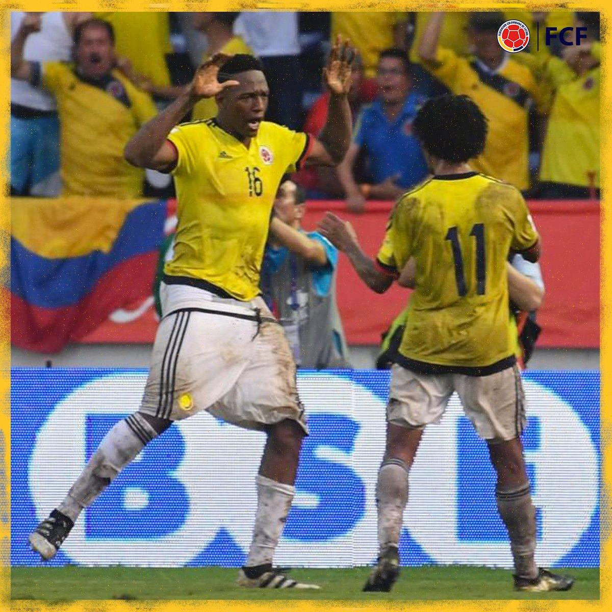 ¡Gooooooool de Colombia!  Yerry Mina se elevó por los aires 🐦 y con un potente cabezazo marcó el segundo gol para Colombia ⚽️🤯  🇨🇴2⃣-2⃣🇺🇾  #EnModoEliminatorias #ViveElGolCaracol https://t.co/vuYgRxhb5c
