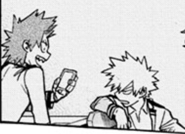 spoilers . . . what do y'all think kiris trying to show him on his phone? probably a totally not gay fitspo insta of buff dudes pic.twitter.com/NCdDTY2Dth