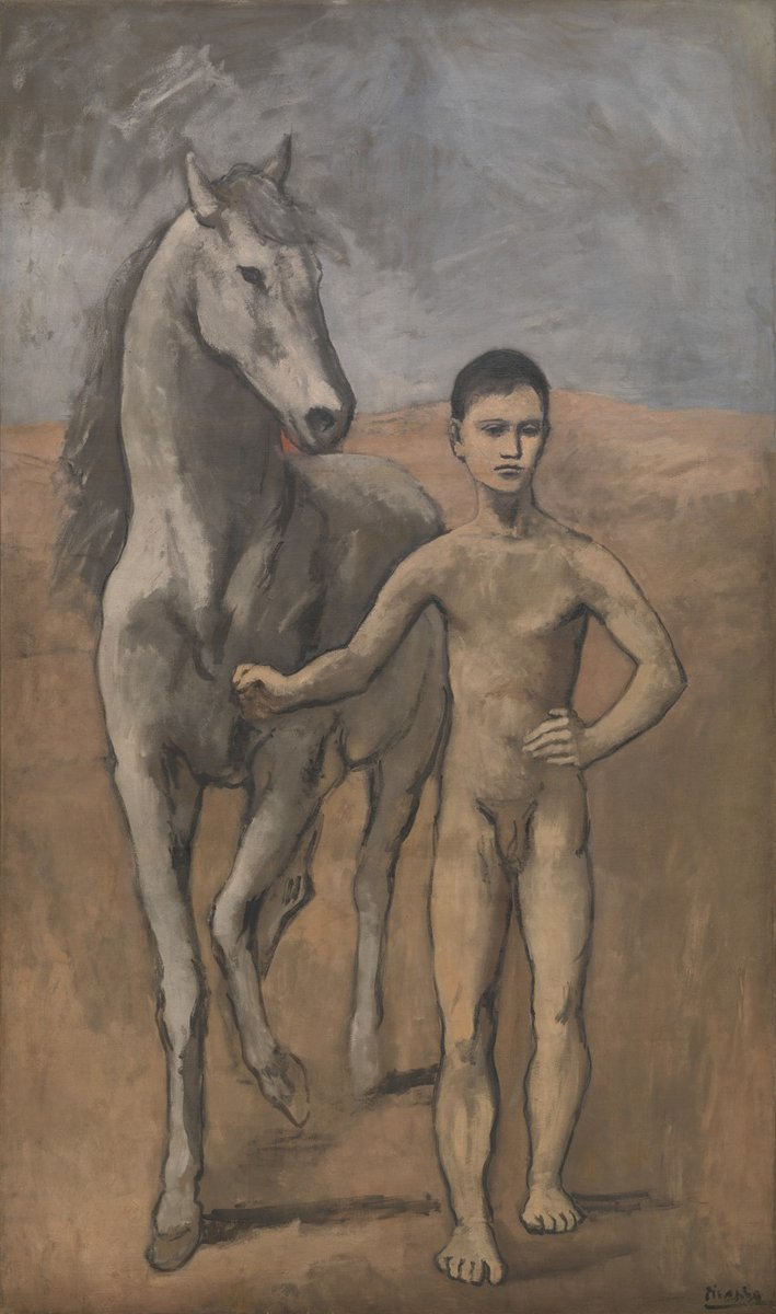Boy Leading a Horse, Pablo Picasso, Paris, 1905-06 https://t.co/2adwFFNVJh #pablopicasso #museumarchive https://t.co/HuHajfzla1
