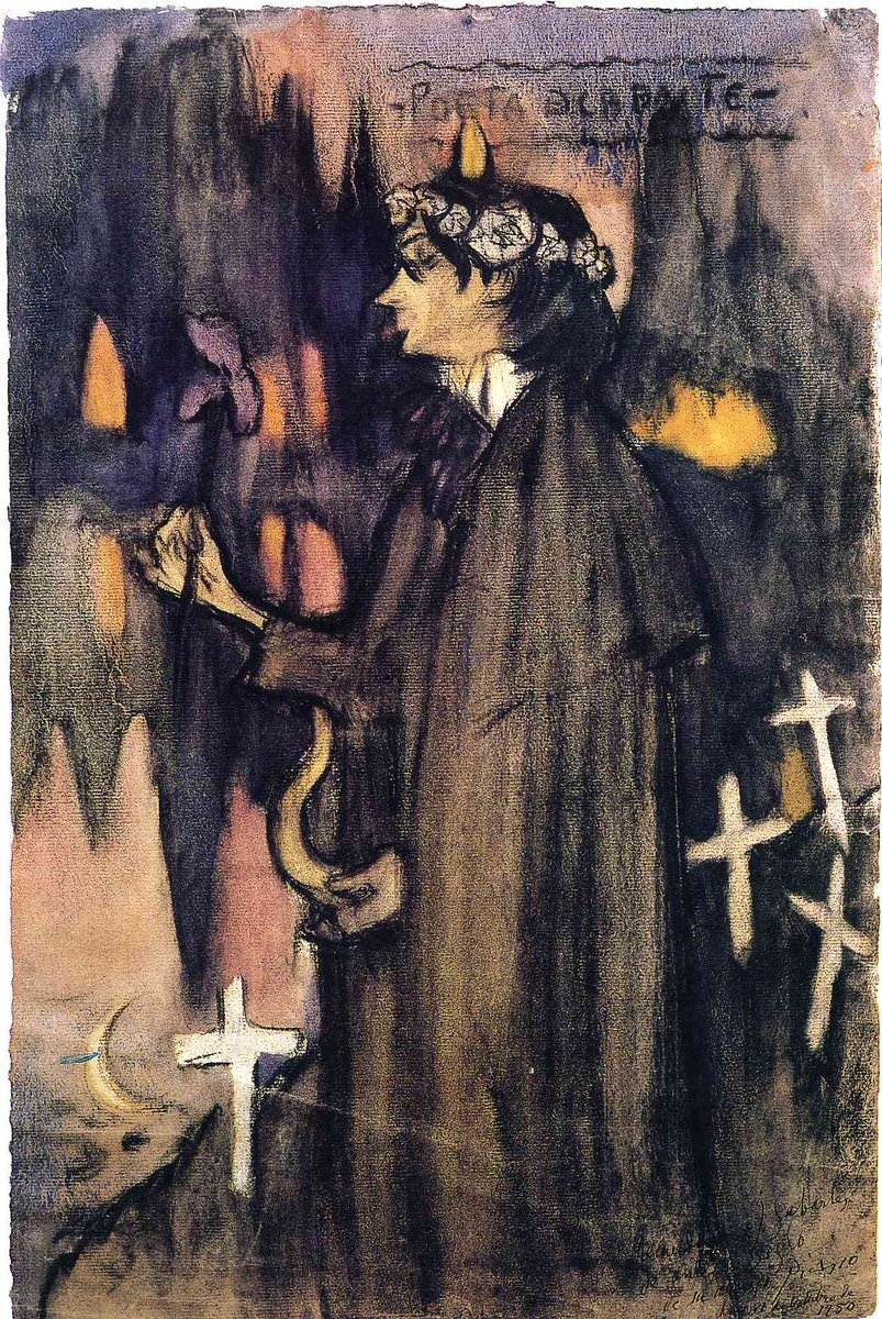 Sabartes as decadent poet, Pablo Picasso, 1900 #pablopicasso #expressionism https://t.co/aHHZ4o84Yw