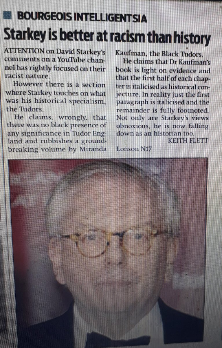 My fletter @M_Star_Online on David Starkey. Not just bad politics but bad history too