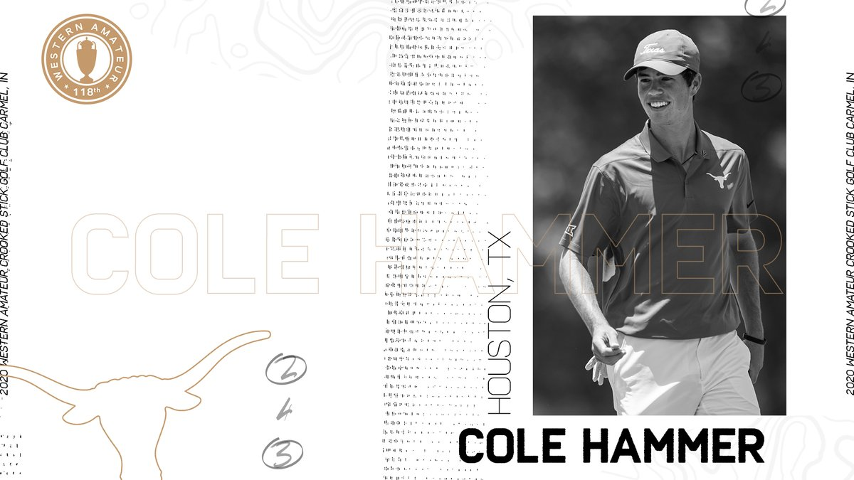 2018 #WesternAmateur champion @cole_hammer6765 will look to become the first player since fellow @TexasMGolf great @jlmountainman to earn a second spot on the George R. Thorne Trophy this month at Crooked Stick. https://t.co/pEcNDI7Kws