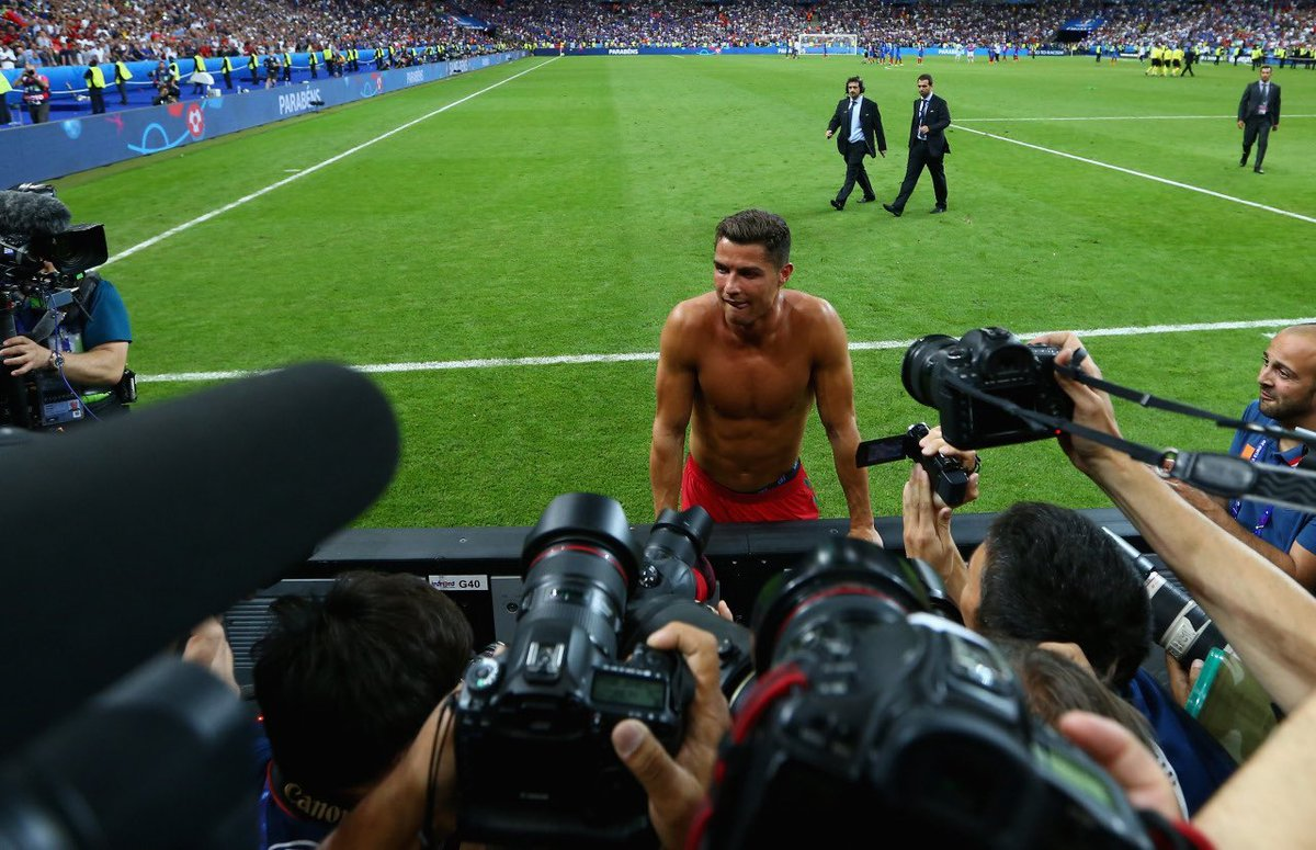 Cristiano Ronaldo after the Euro 2016 Final — 📸