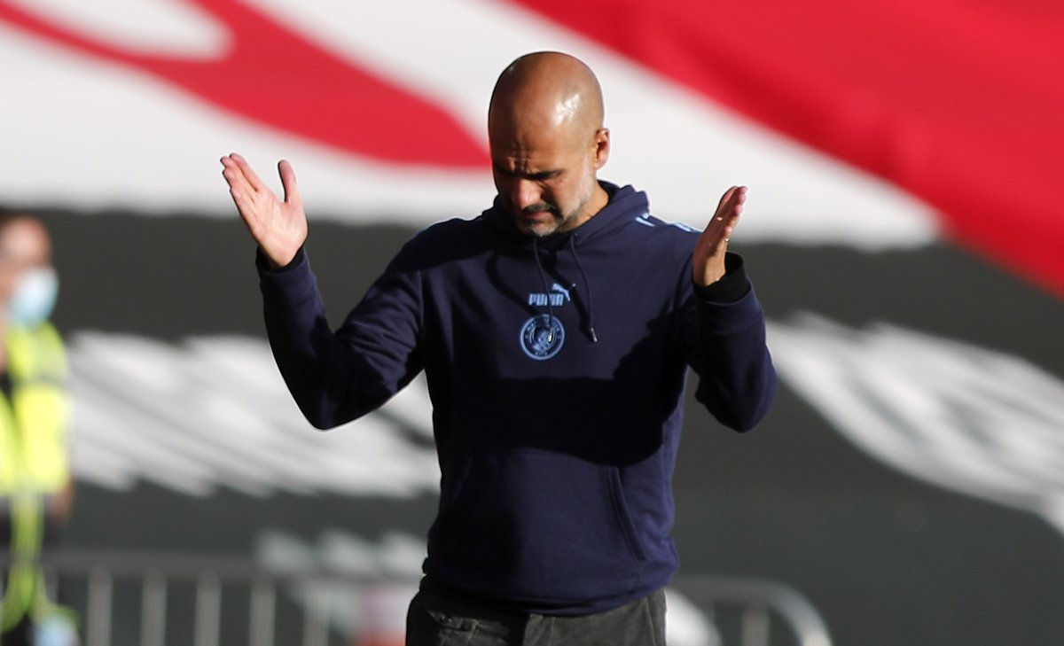 Pep Guardiola has lost three consecutive away league games for the first time in his managerial career.  Uncharted territory for Pep.  <br>http://pic.twitter.com/1CVAk5Lb25