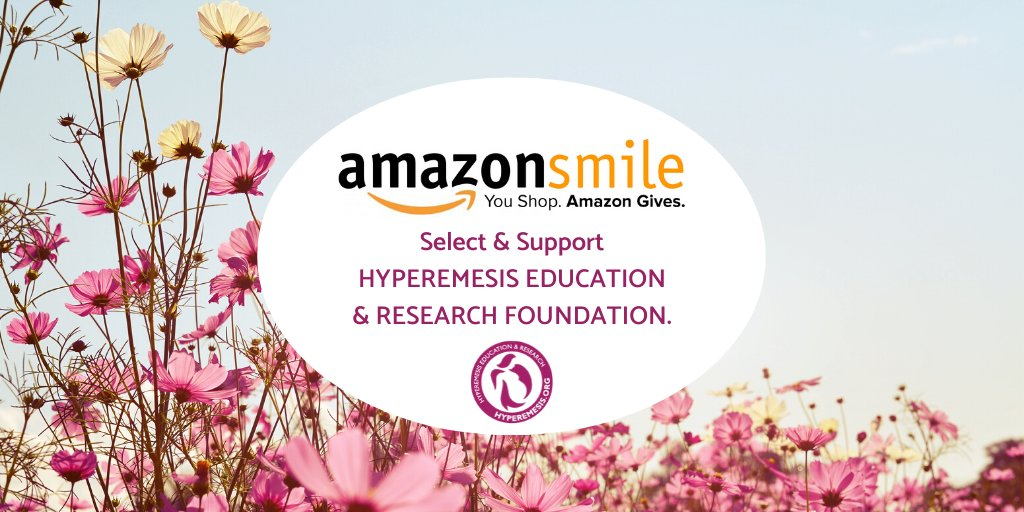 Everytime you shop online, you can donate to HG Progress! Select the Hyperemesis Education and Research Foundation on your computer or the AmazonSmile app, and a small portion of your purchase will be given to HER.  #GIVE2HER #hyperemesis #maternalhealth #nonprofit #ThankYou https://t.co/uzFL4k1Iz5