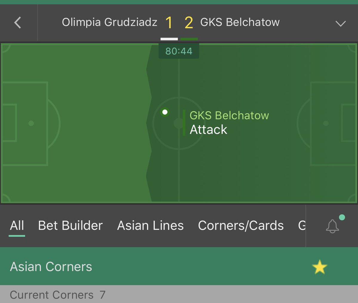 Poland     Over 8 asian corners (1.9 odds min)   Stake - 2 unit   #Inplay #Poland #Freepic.twitter.com/FlURYqhN0k