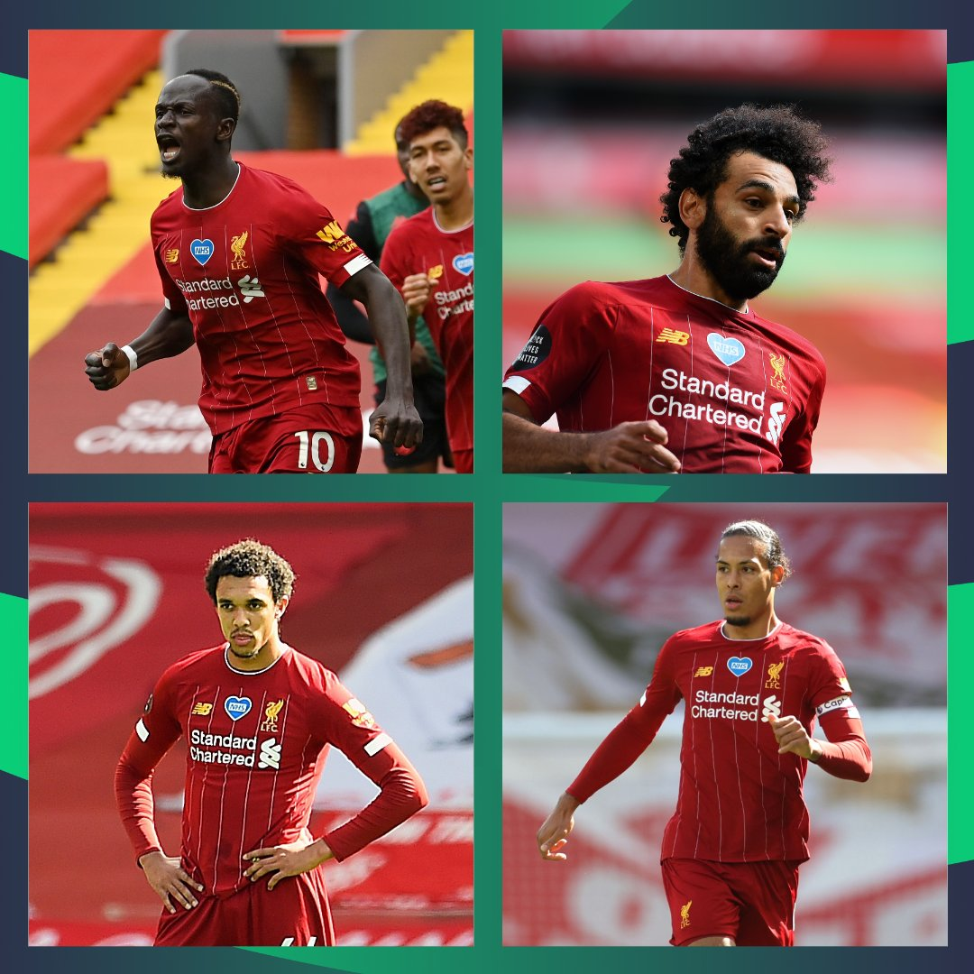 Mane - ⚽️ Salah - 🅰 Alexander-Arnold - ⛔️ Van Dijk - ⛔️ Happy with your @LFC returns? #FPL #LIVAVL