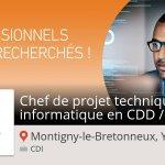 Image for the Tweet beginning: Découvrez ce #job : #Chef