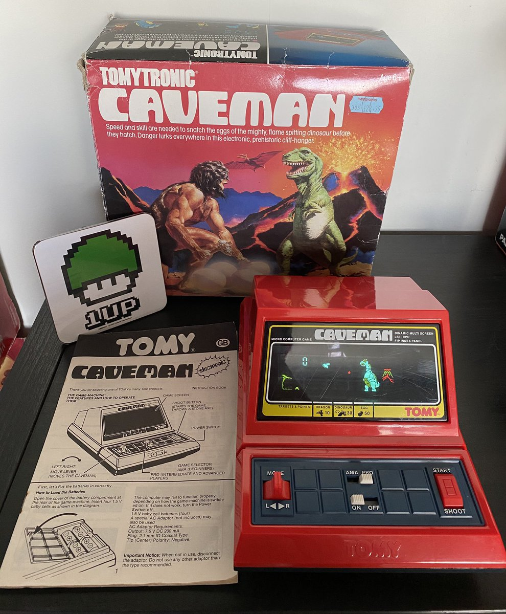 Something a little different for #CIBsunday My childhood TomyTronic Caveman game/toy. Tomy made some great battery powered games like this back in the day! Anyone still got their childhood toys boxed? I cry thinking what I use to have that was thrown out!  #GamersUnite #Retropic.twitter.com/u8ZnUQNeET