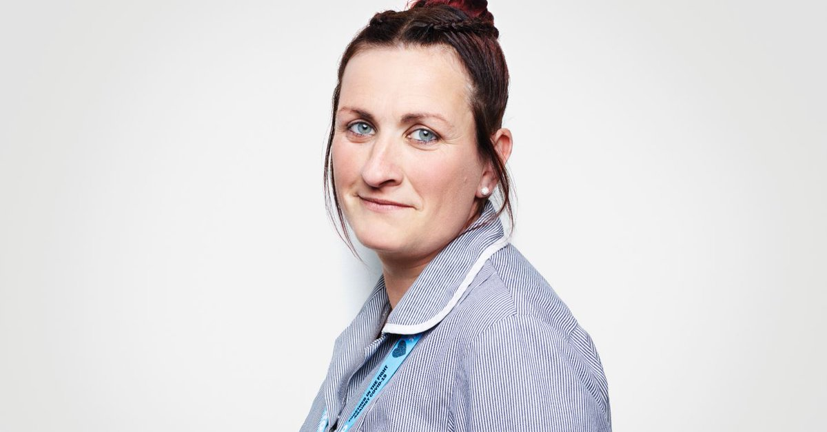 I'm pleased that as part of my job I can be a friendly face for patients staying in the hospital,' — Laura, one of our vital COVID-19 ward cleaners, was photographed by @rankinphoto for the #NHSBirthday. Read her full story at england.nhs.uk/rankin. 💙 #ThankYouTogether