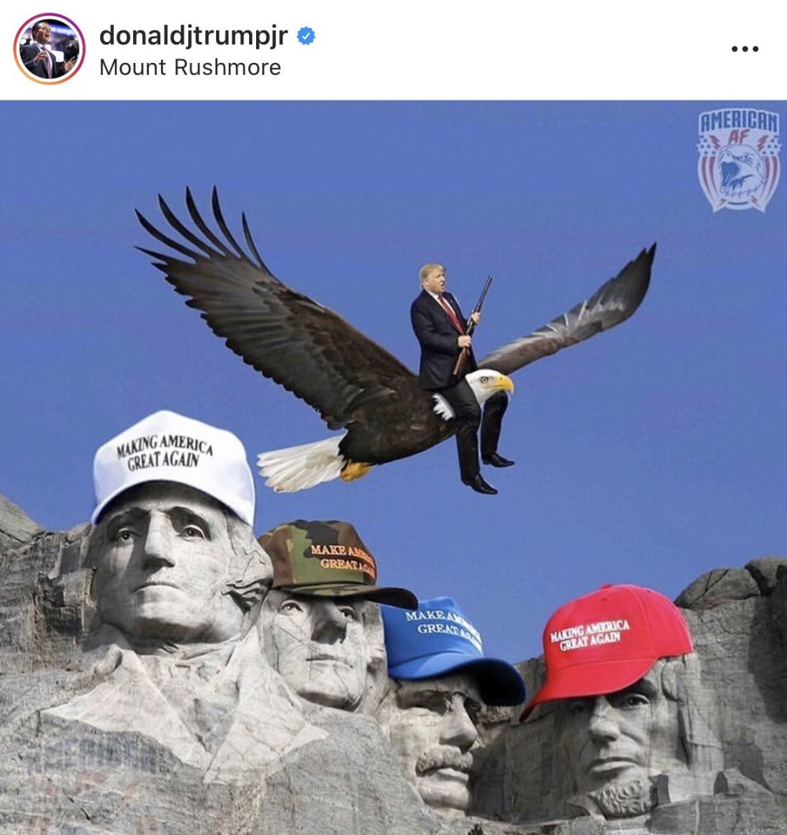 That's not even the correct way to ride an eagle smh