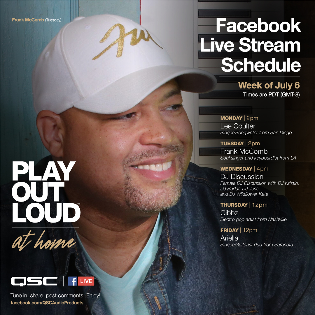 Play Out Loud at home Facebook live stream schedule for this coming week!  Come on over to Facebook and check out some amazing live performances and discussions. @leecoulter @frankmccomb @meetkristin @djrundat @djjess412 @djwildflower.kate @gibbzmusic @officiallyariella https://t.co/zz766rw9cn