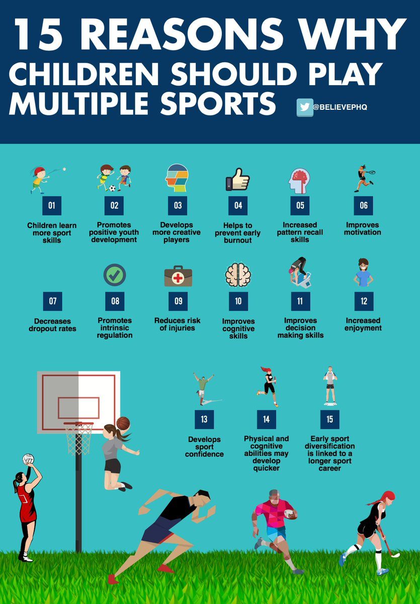 15 reasons why children should play multiple sports