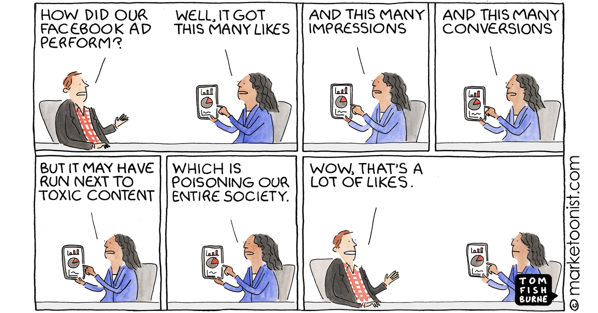 """""""Facebook Ad Boycott and 10+ Years of Facebook Cartoons"""" - new cartoon and post https://t.co/dC7gjLfhTR #marketing #cartoon #marketoon https://t.co/ogUjyZtn8J"""
