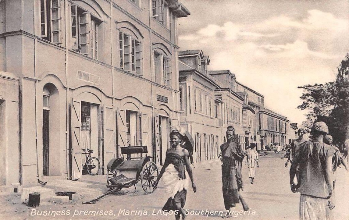 Business Premises, Marina, Lagos, Southern Nigeria 1910. https://t.co/GFP9fBZLU6