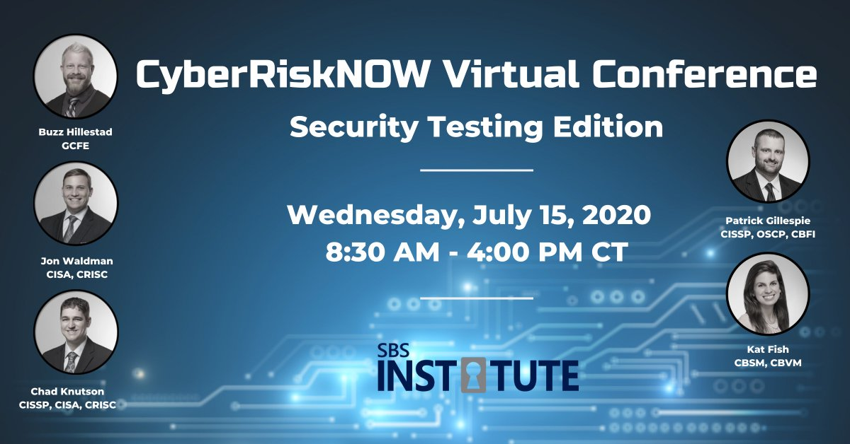 """At our next CyberRiskNOW Conference, our speakers will cover testing your Information Security Program from a People perspective, including answering the question """"Is All That Security Awareness Training Effective?""""  Learn more and register today: http://ow.ly/f4RI50AmeqYpic.twitter.com/yo0InM7whm"""