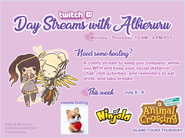 #streamschedule is up! Added in some Ninjala in the mornings, and Thursdays will be dedicated to small indie games before movietime in the Disc. Don't forget that I stream in 2 places now!  Sun night-Thurs: http://www.twitch.tv/albieruru Fri-Sun morn: http://www.trovo.live/albierurupic.twitter.com/iN3HyWTHiT