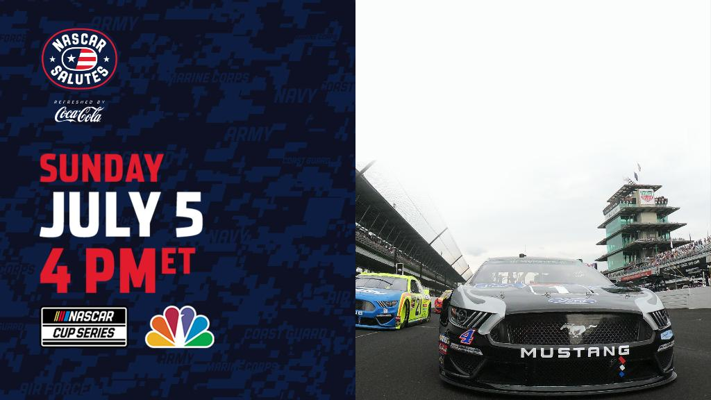 Today the @NASCAR Cup Series takes on The Brickyard.   Tune in to NBC at 4:00 PM ET to catch the action! https://t.co/elNjb4rOwN