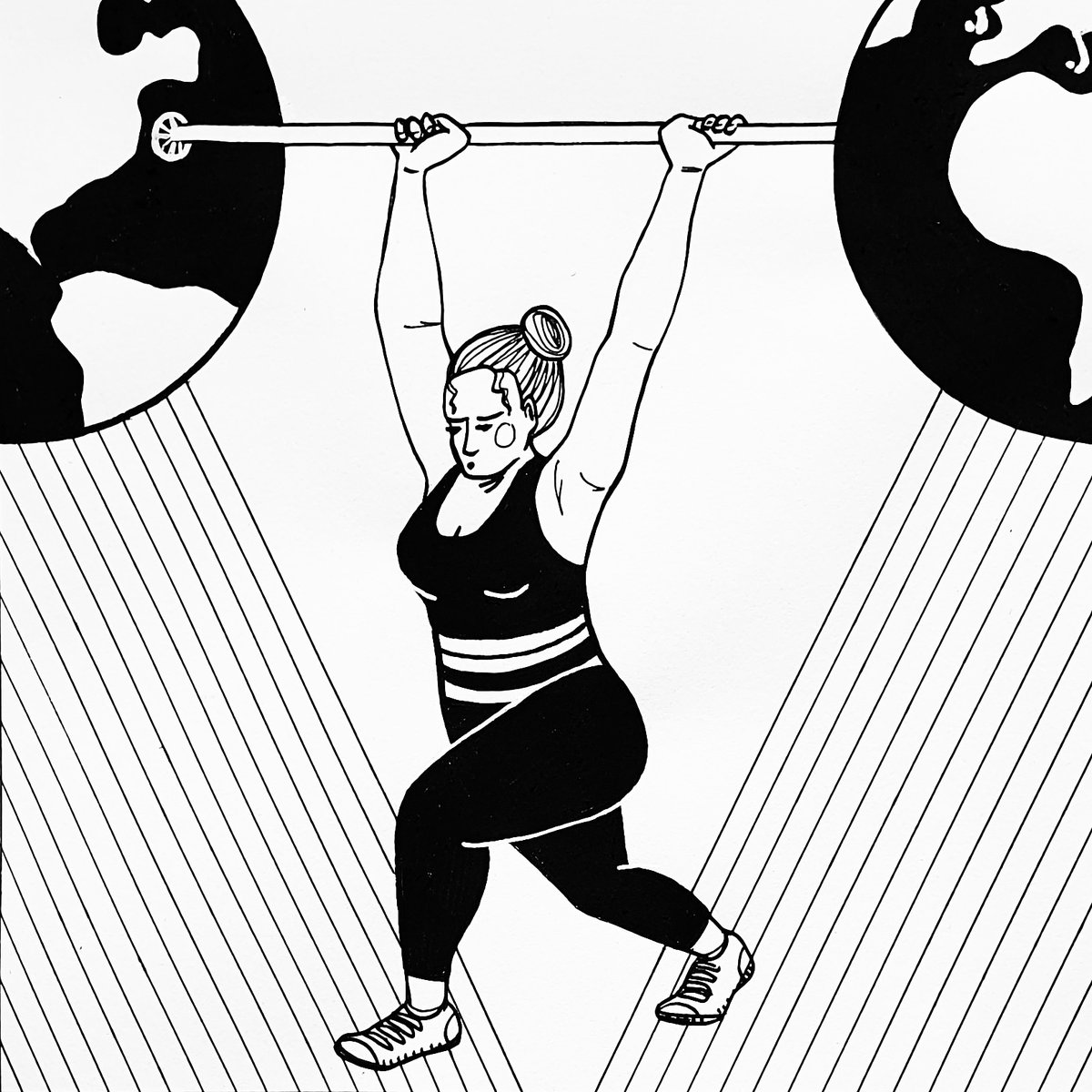 2nd in my A2Z of bodies drawing challenge is B for Bodybuilder!   #editorialillustration  #illustrationartist<br>http://pic.twitter.com/ApjMrBwiML