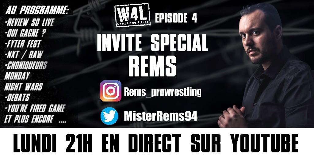 BREAKING NEWS ! Demain Retrouvez nous en live a 21h avec en Guest @MisterRems94 ! Ca sent clairement l'emission de folie ! #W4L  Are you ready ? No i said ARE YOU READDDYYYYY !!!! #lequipeCATCHpic.twitter.com/FsCvkIjuQv  by RPW Wrestling