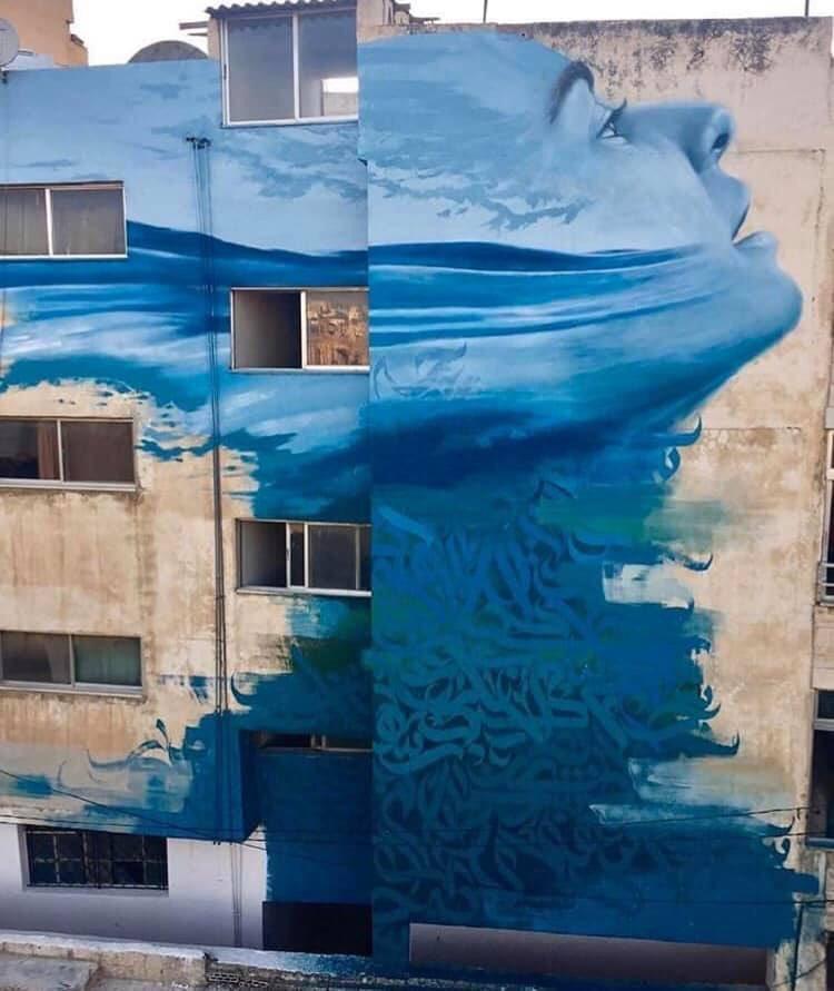 ... like the wave of the sea, deep as the deepest of the seas... the soul. Art by Jonathan Darby in Jerash, Jordan #StreetArt #Art #Sea #Soul #Beauty #Human #Graffiti #Mural #UrbanArtpic.twitter.com/XgAe26TsaM