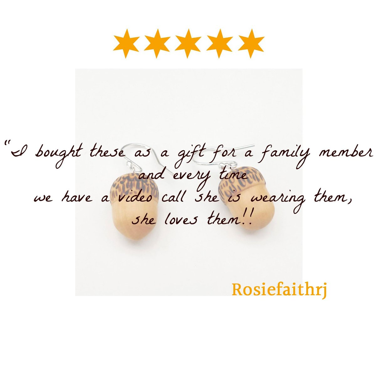 It's lovely to hear my little acorn earrings are spreading joy, even during lockdown. Thanks for letting me know Rosie.  #acornjewellery #handmadelove #thoughtfulgifts